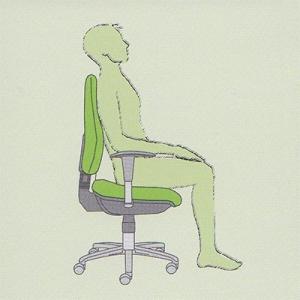 Uporabnik ne sedi na celi površini sedišča