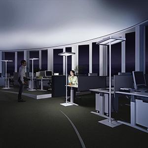Primer regulacije osvetlitve delovnega prostora